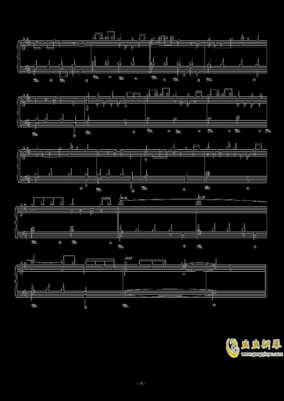眷恋的少年钢琴谱 第4页