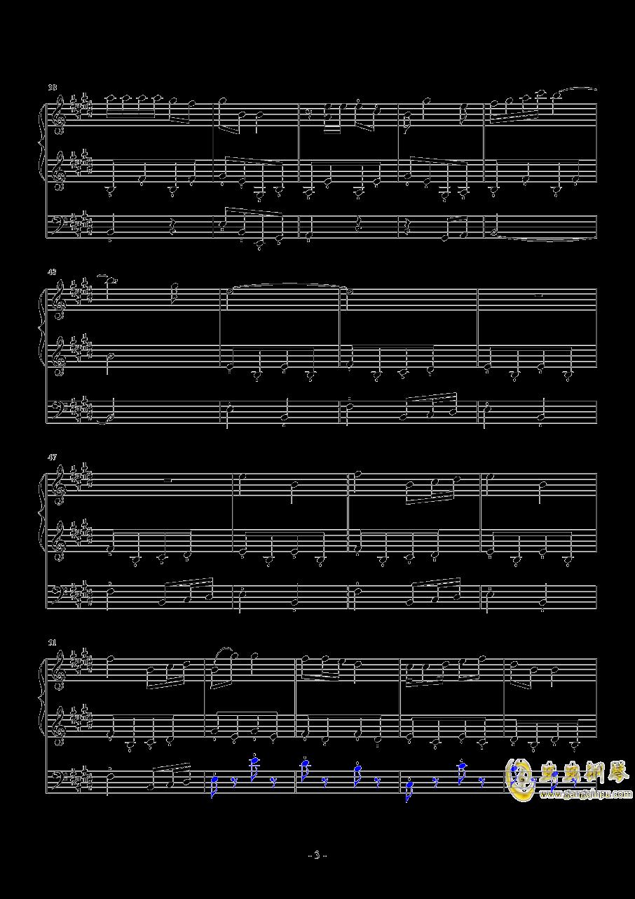 【经典番】宫内莲华(喵帕斯)角色曲~闪闪发光哦钢琴谱 第3页