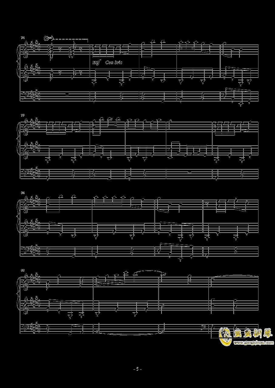 【经典番】宫内莲华(喵帕斯)角色曲~闪闪发光哦钢琴谱 第5页