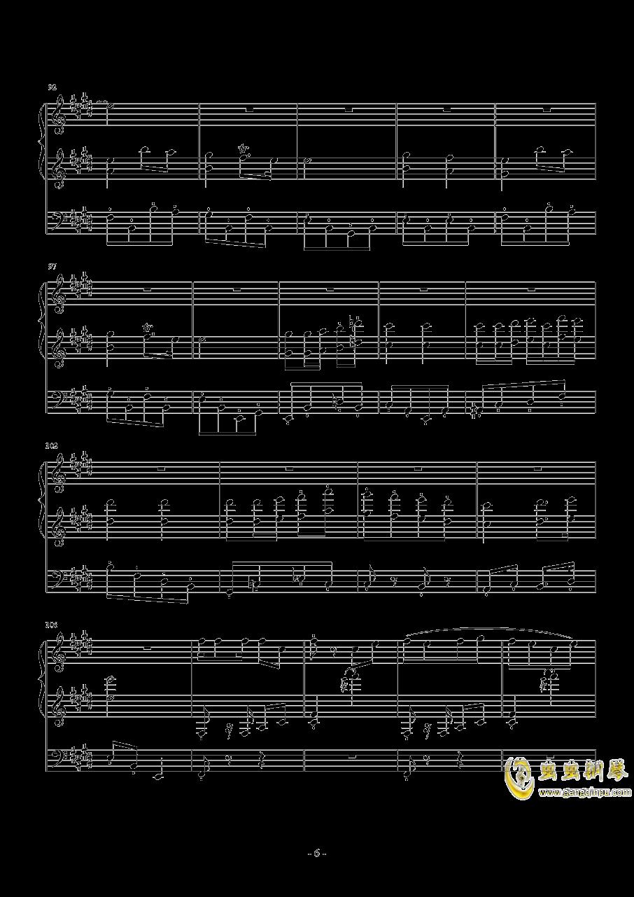 【经典番】宫内莲华(喵帕斯)角色曲~闪闪发光哦钢琴谱 第6页