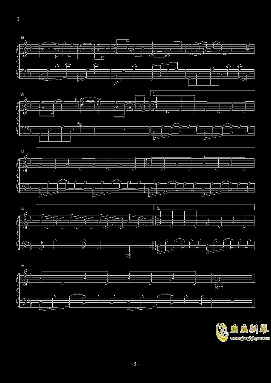 傲红尘钢琴谱 第3页