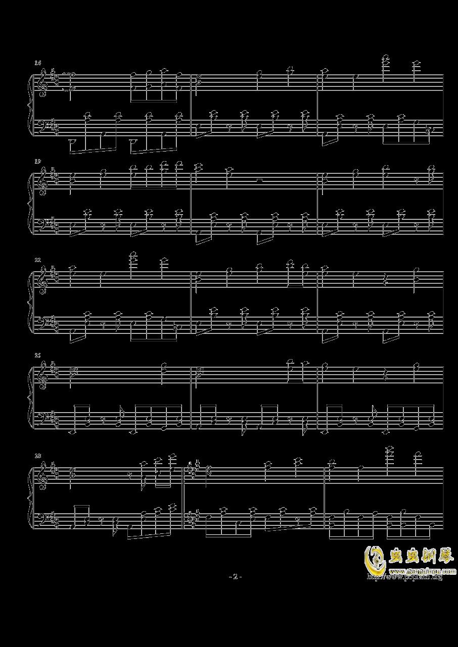 跳舞的线钢琴谱 第2页
