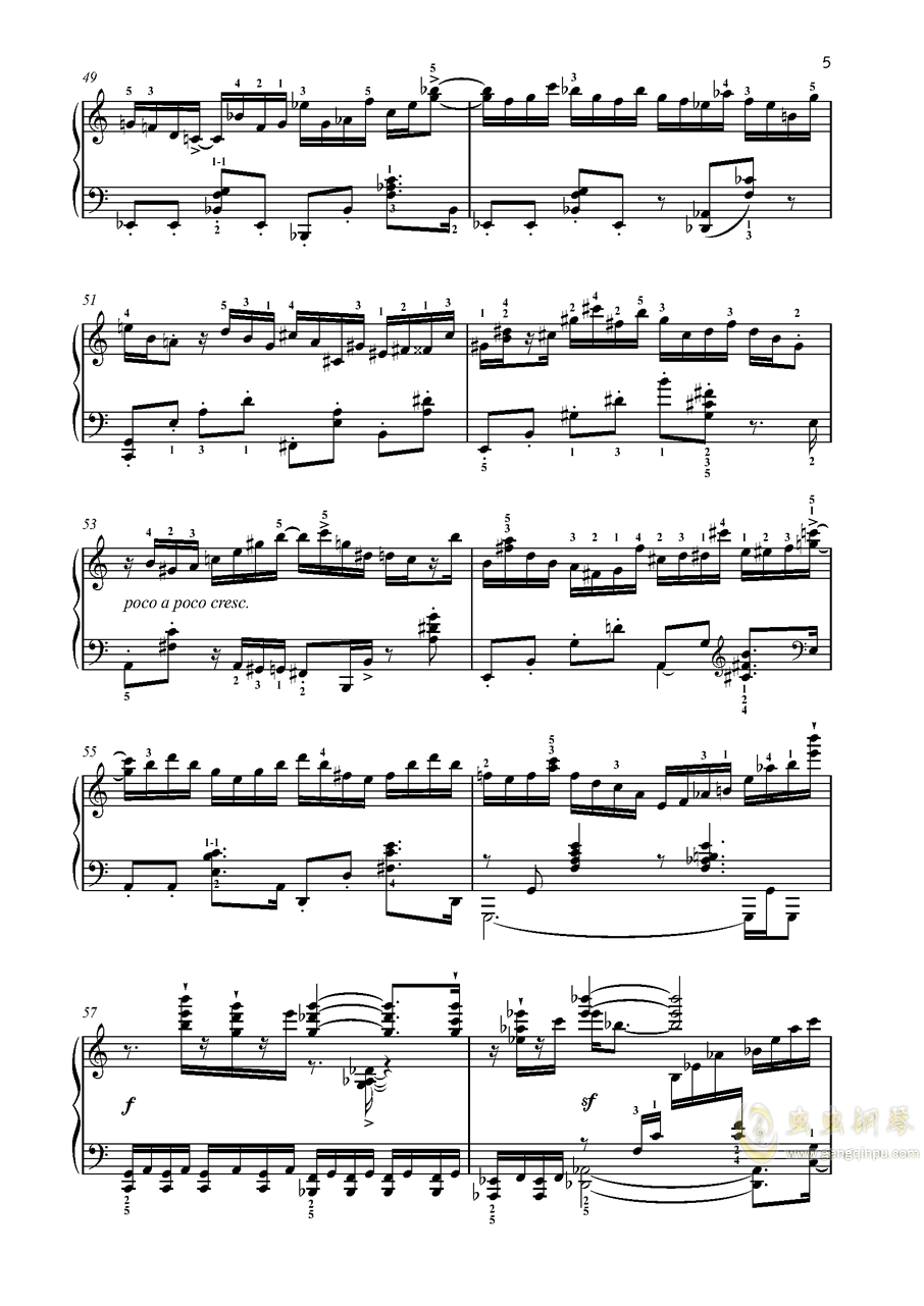 【爵士】【带指法】尼古拉斯凯帕斯汀 八首音乐会练习曲 Eight Concert 澳门星际官网 第5页