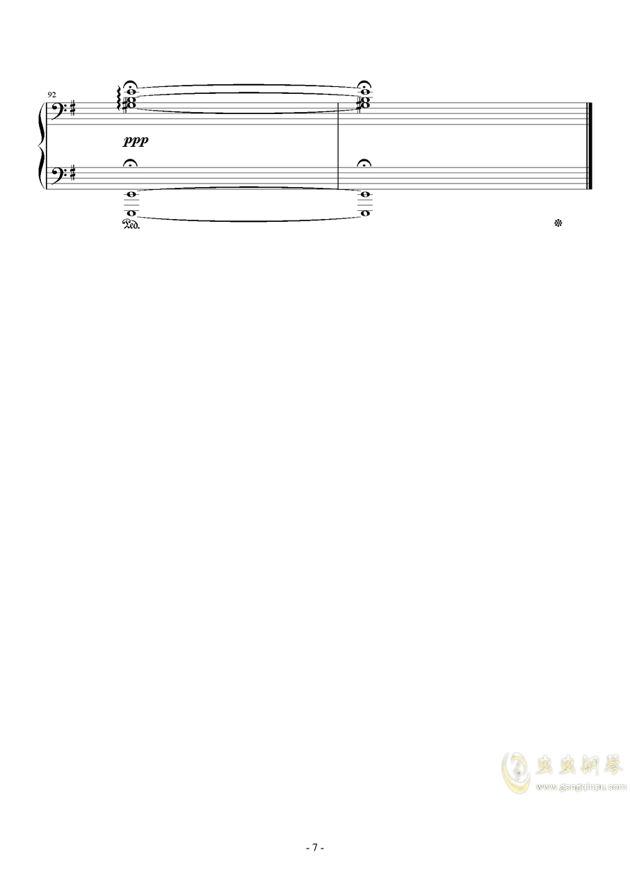FFXI Ronfaure Orchestra Version钢琴谱 第7页