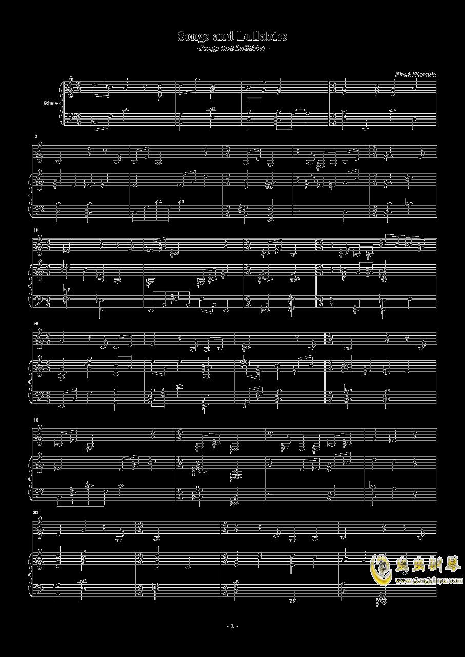 Songs and Lullabies钢琴谱 第1页
