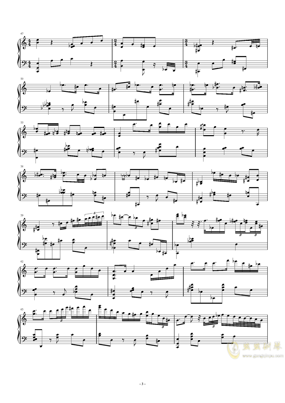 Songs and Lullabies钢琴谱 第3页