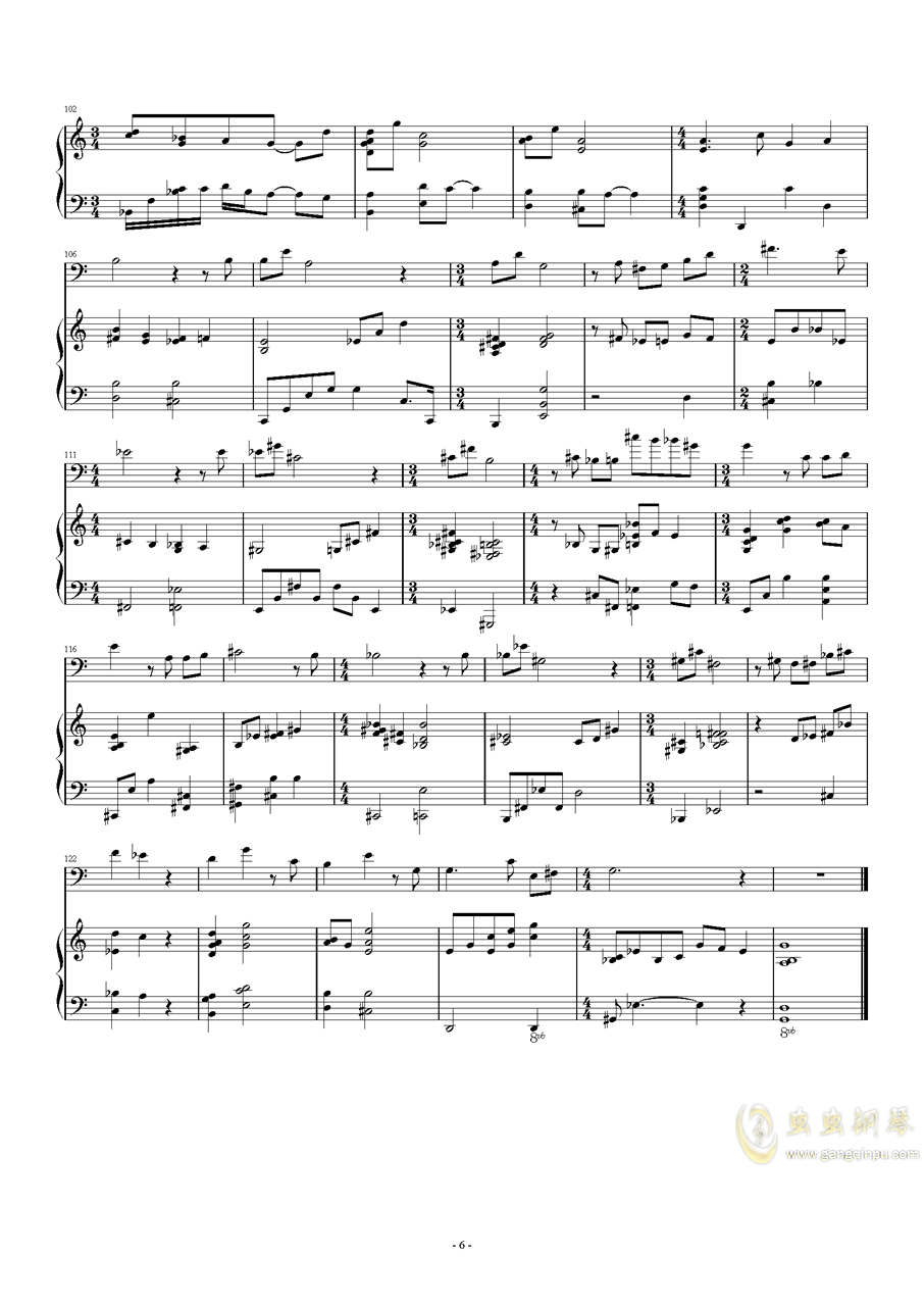 Songs and Lullabies钢琴谱 第6页