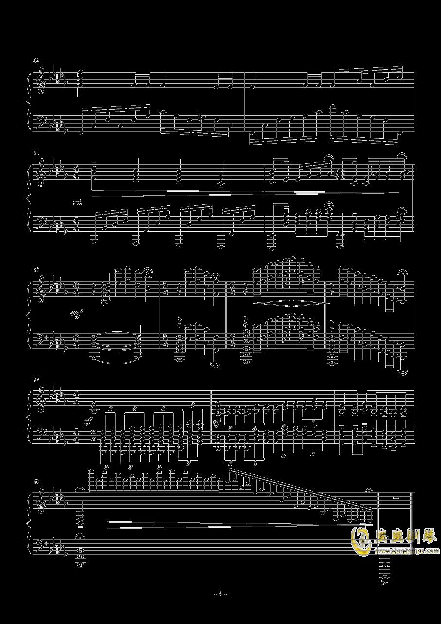 啟示鐘钢琴谱 第4页