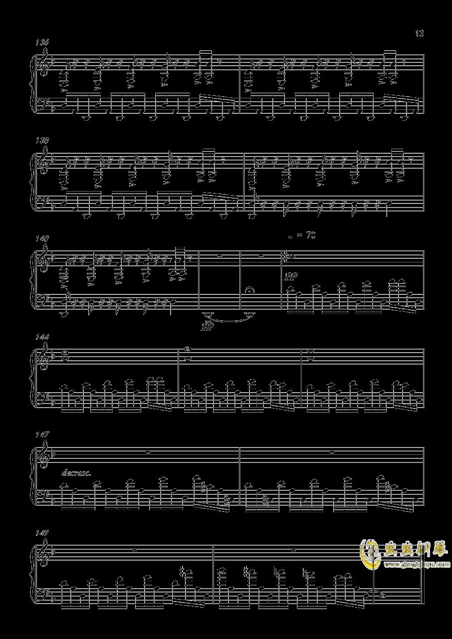 底特律:成为人类 康纳主题曲钢琴谱 第13页