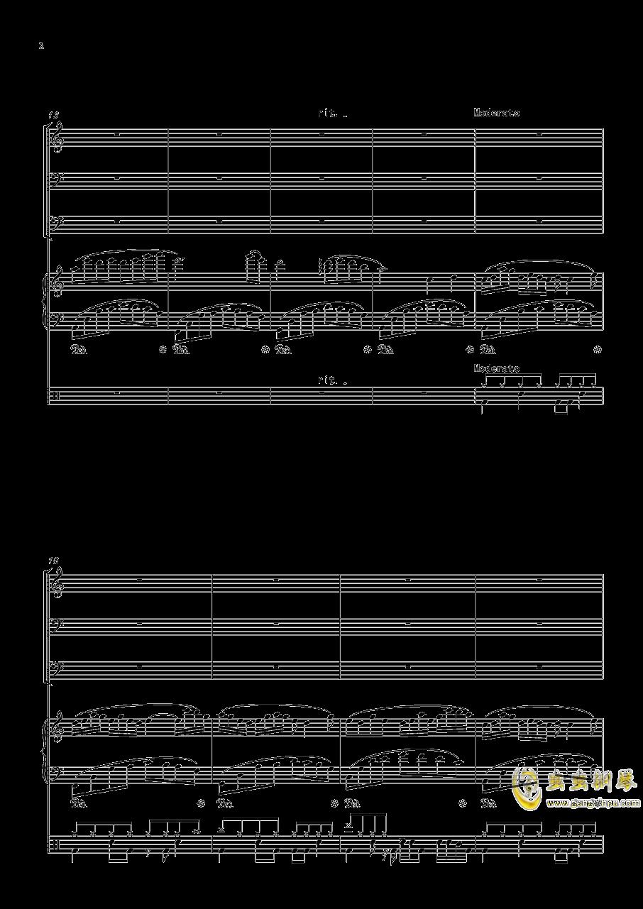 沐雨单言钢琴谱 第2页