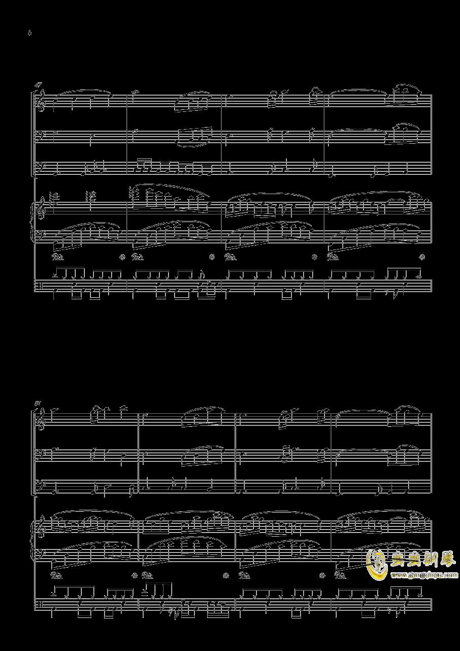 沐雨单言钢琴谱 第6页