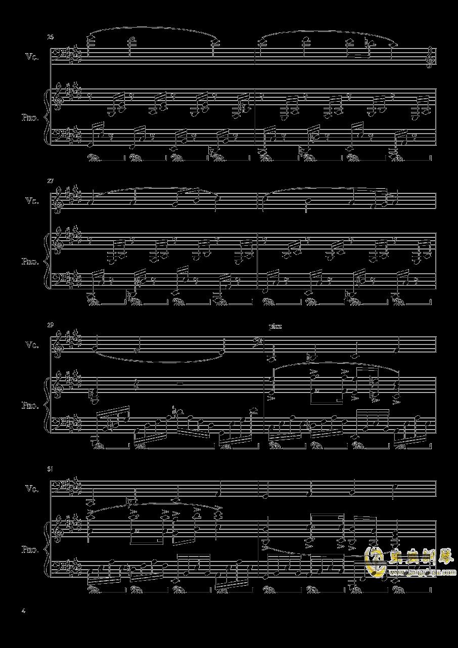 夏日随想曲钢琴谱 第4页