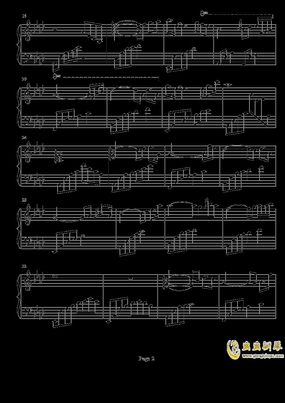 白日梦游钢琴谱 第2页