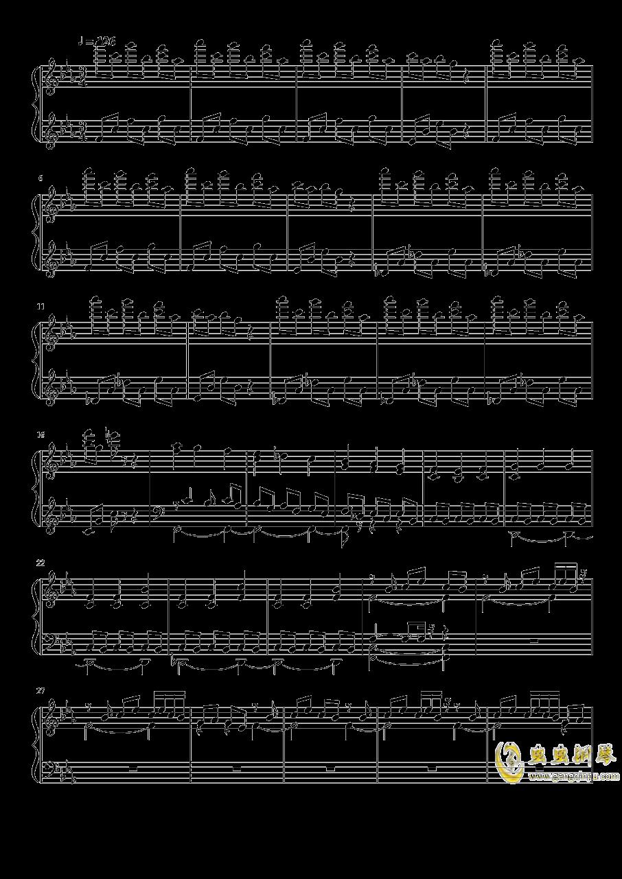 永夜变奏曲钢琴谱 第1页