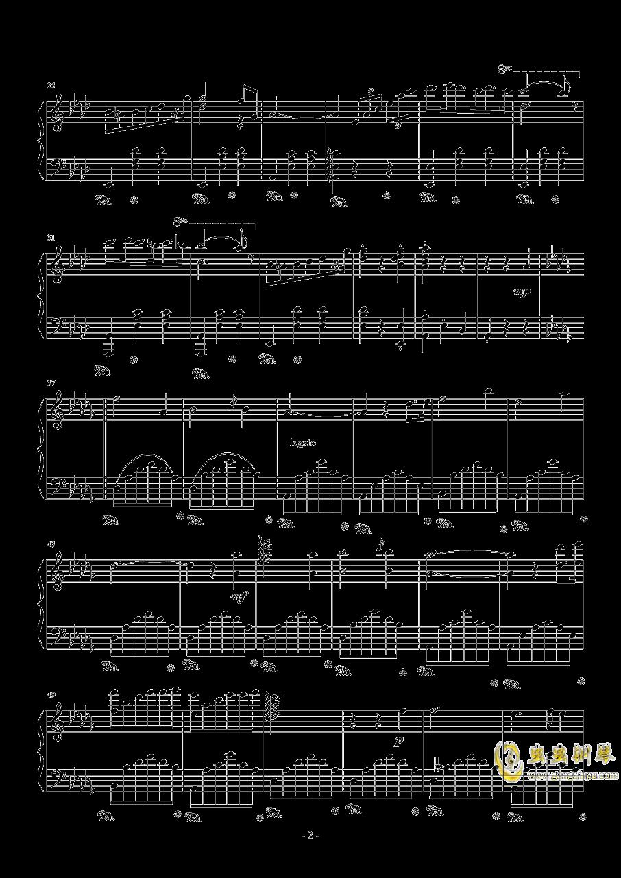 降A大调圆舞曲钢琴谱 第2页