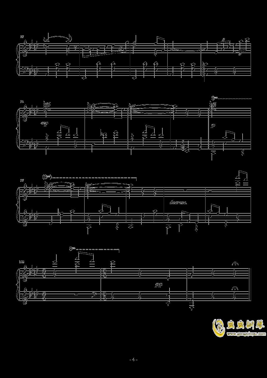 降A大调圆舞曲钢琴谱 第4页