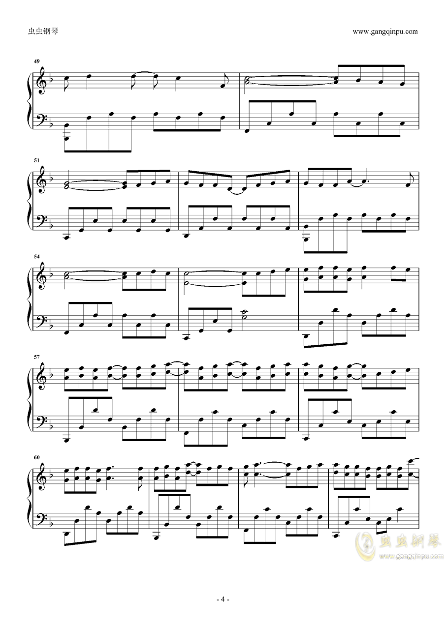 孩子钢琴谱 第4页