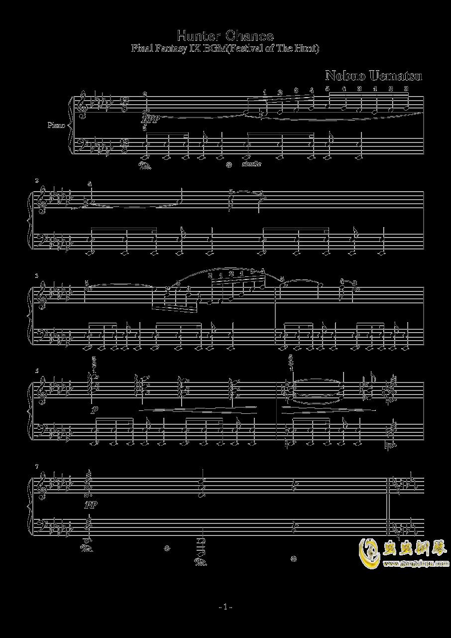 Hunter Chance钢琴谱 第1页