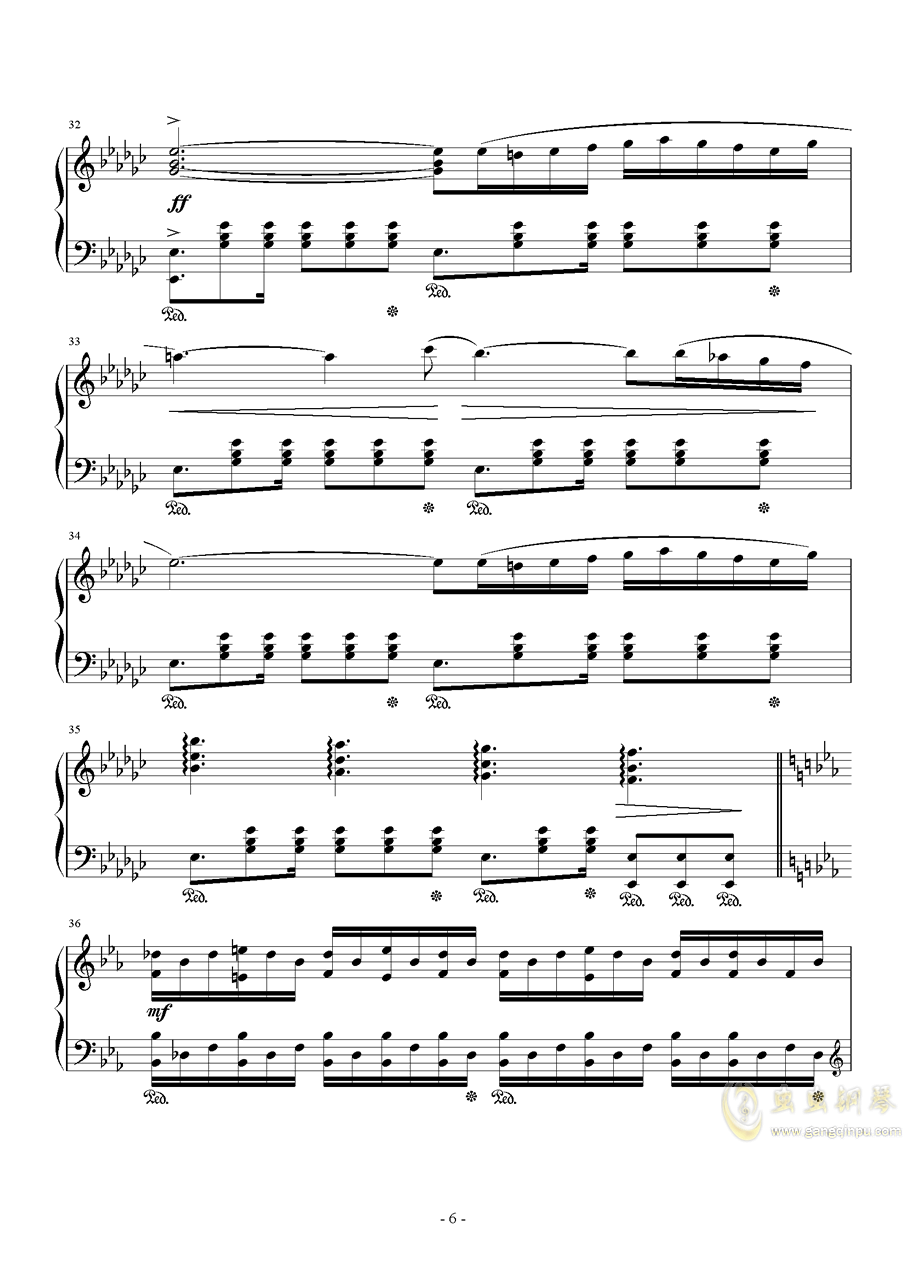 Hunter Chance钢琴谱 第6页
