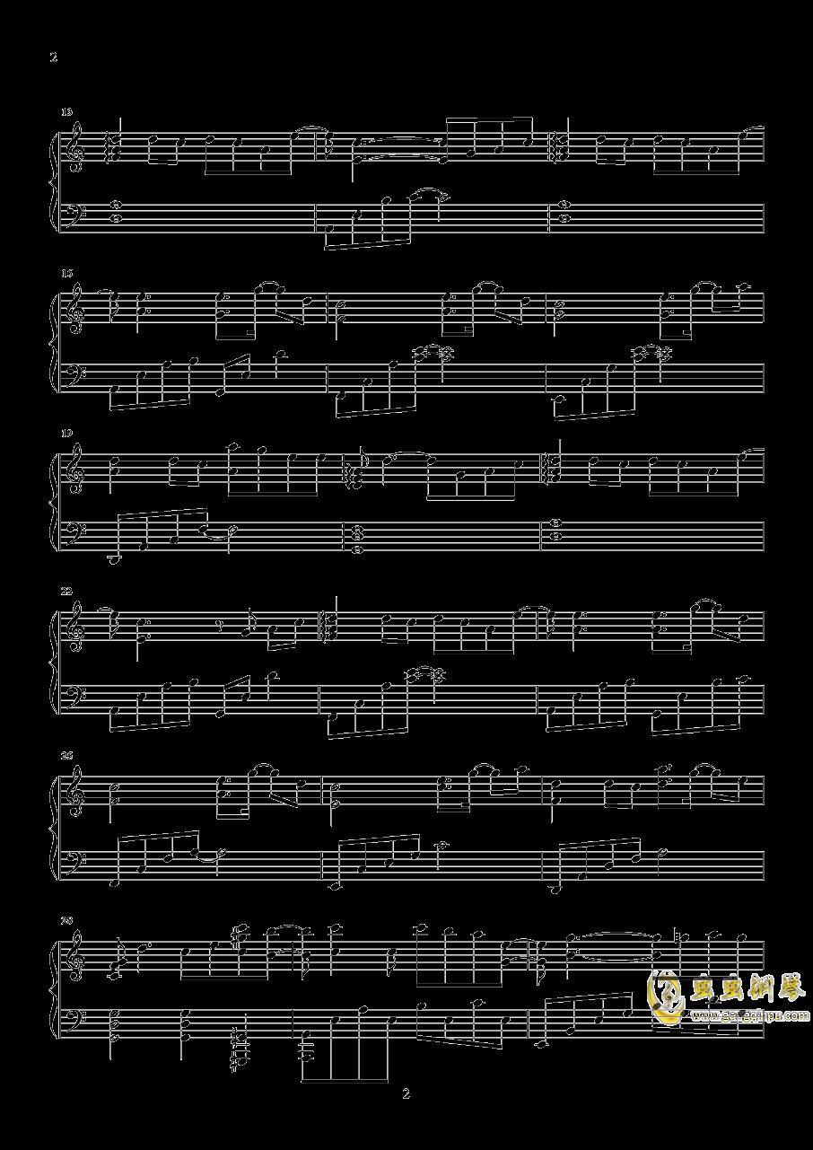 时间有泪钢琴谱 第2页