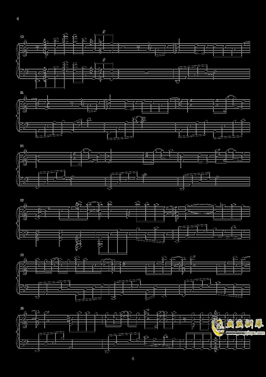 时间有泪钢琴谱 第4页