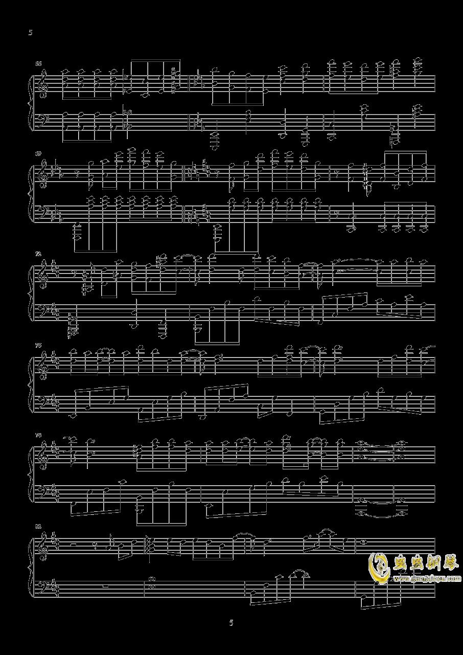 时间有泪钢琴谱 第5页