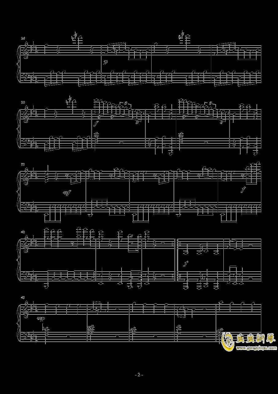 c小调第一钢琴奏鸣曲  第一乐章钢琴谱 第2页