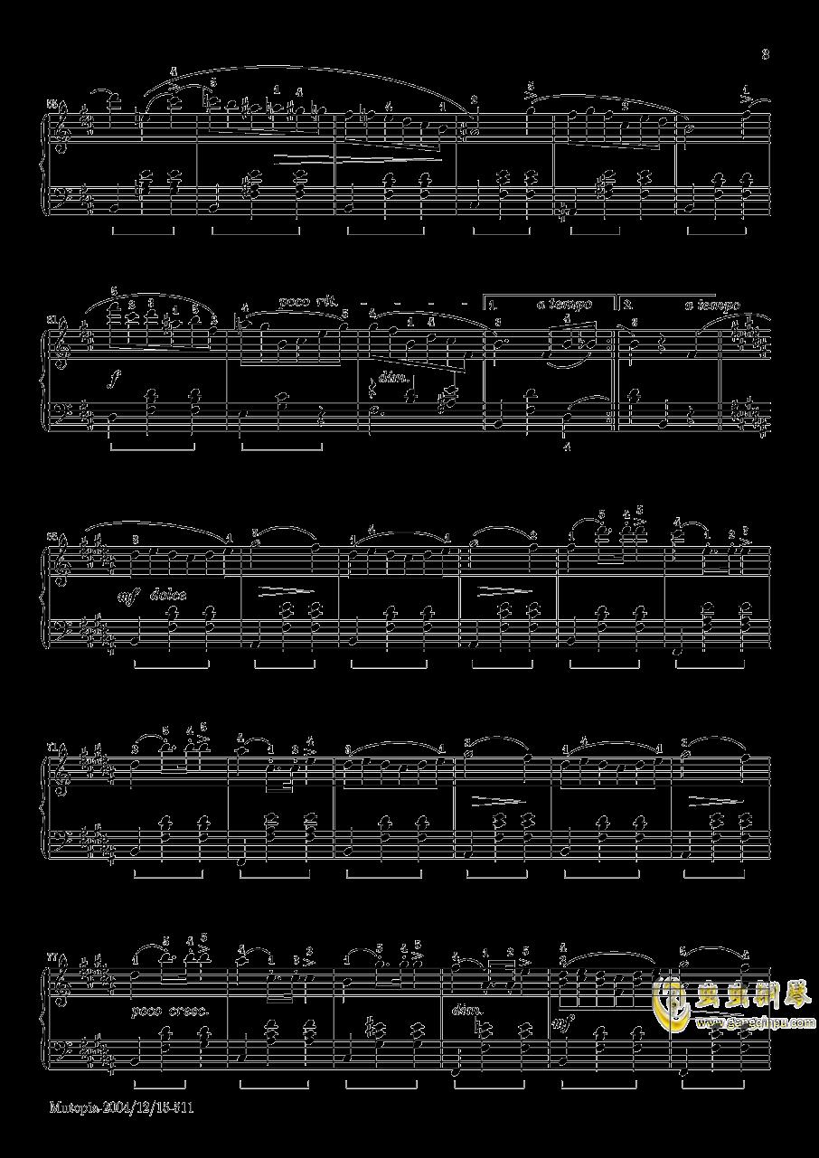 肖邦 圆舞曲 Waltz Op 69 N 2钢琴谱 第3页