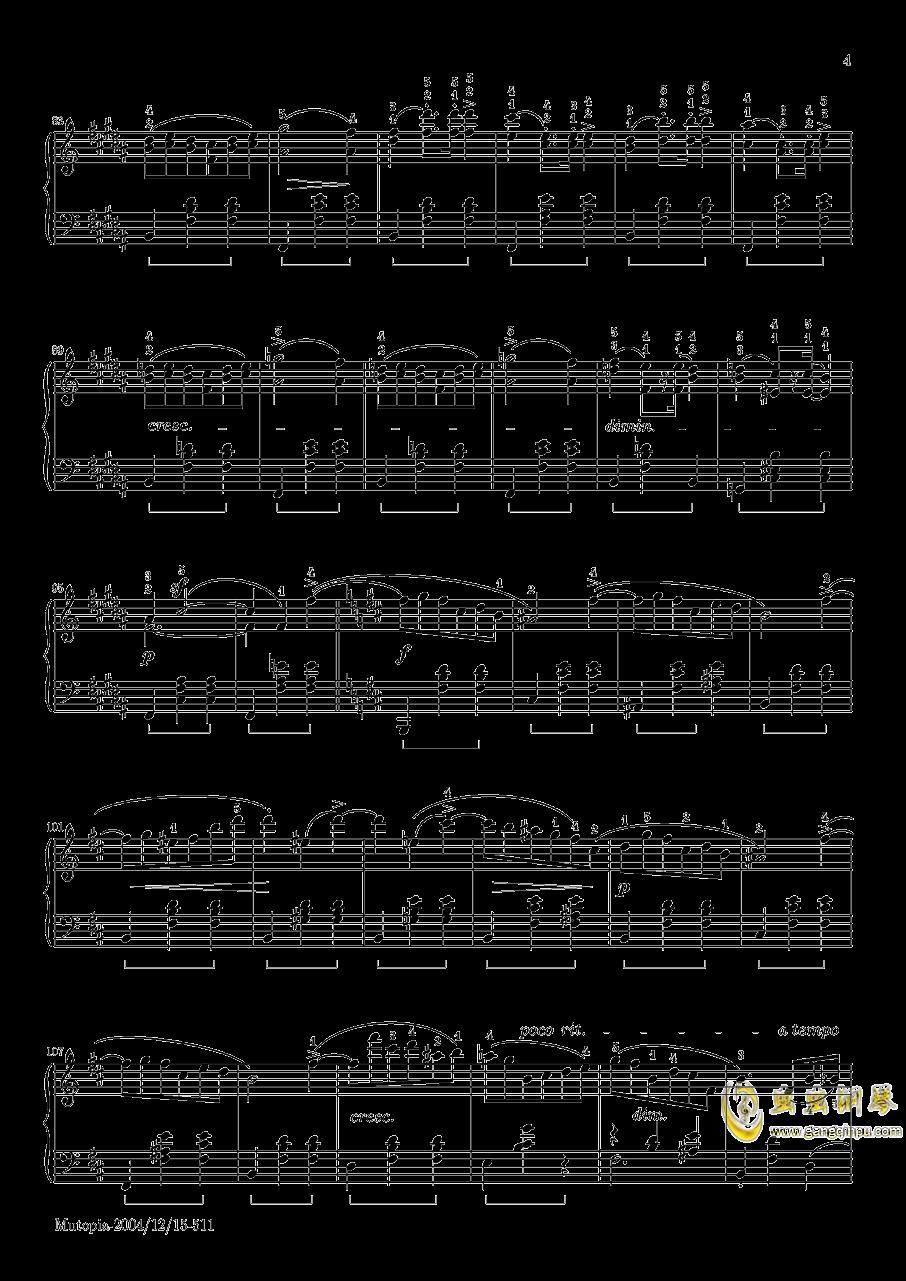 肖邦 圆舞曲 Waltz Op 69 N 2钢琴谱 第4页