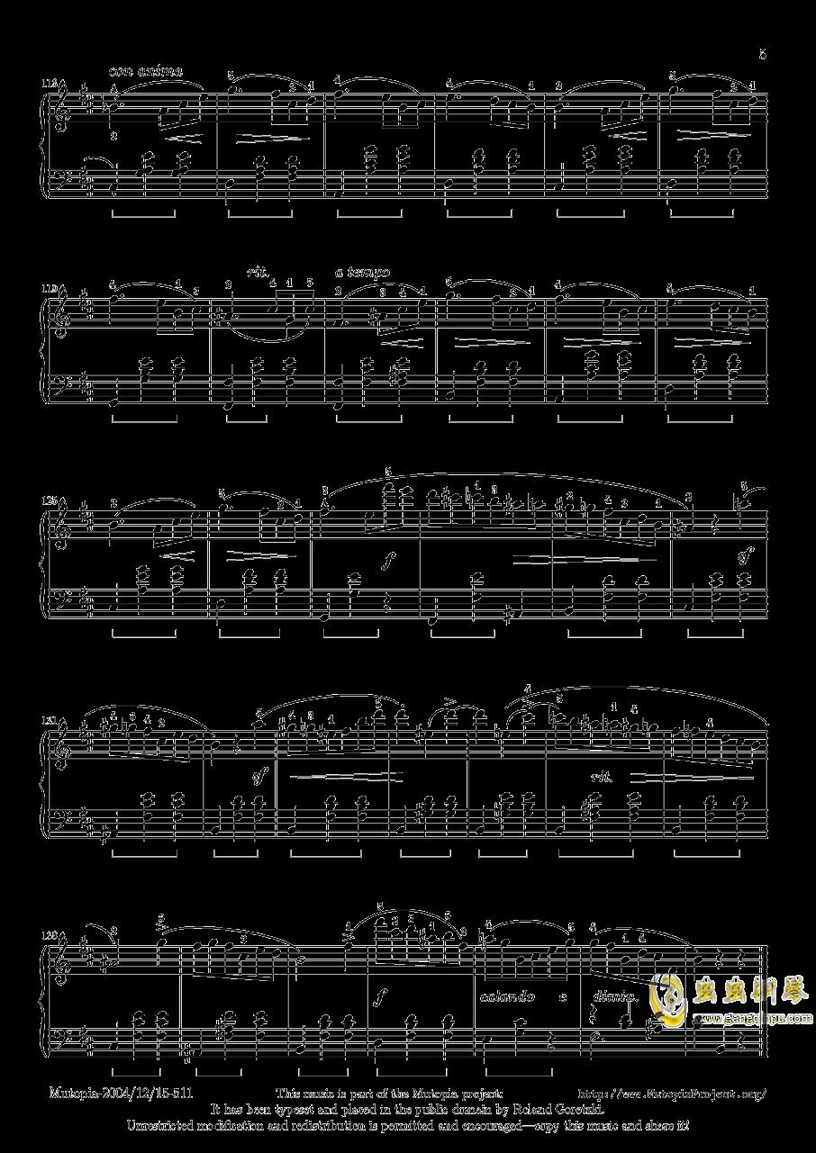 肖邦 圆舞曲 Waltz Op 69 N 2钢琴谱 第5页