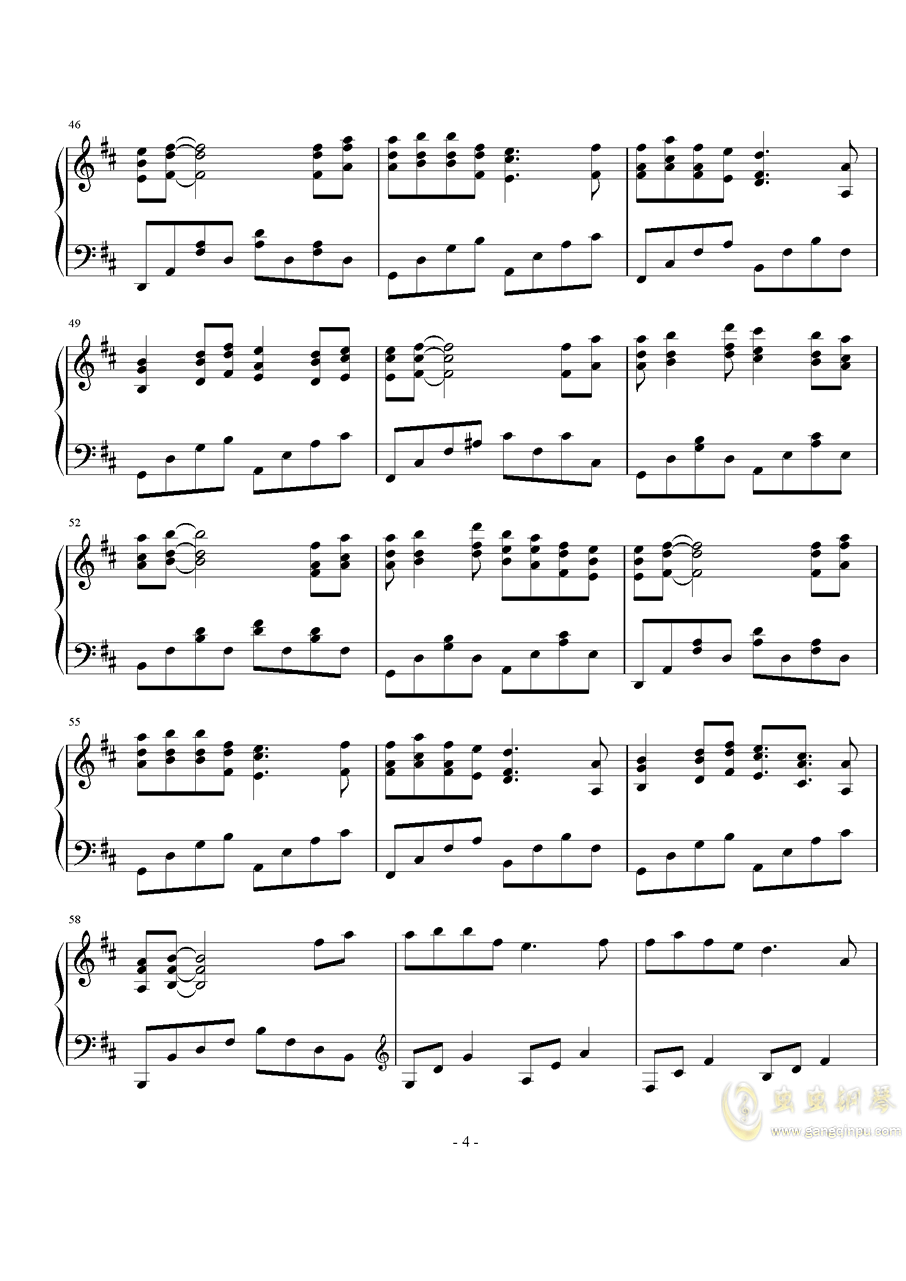 来生愿做一朵莲钢琴谱 第4页