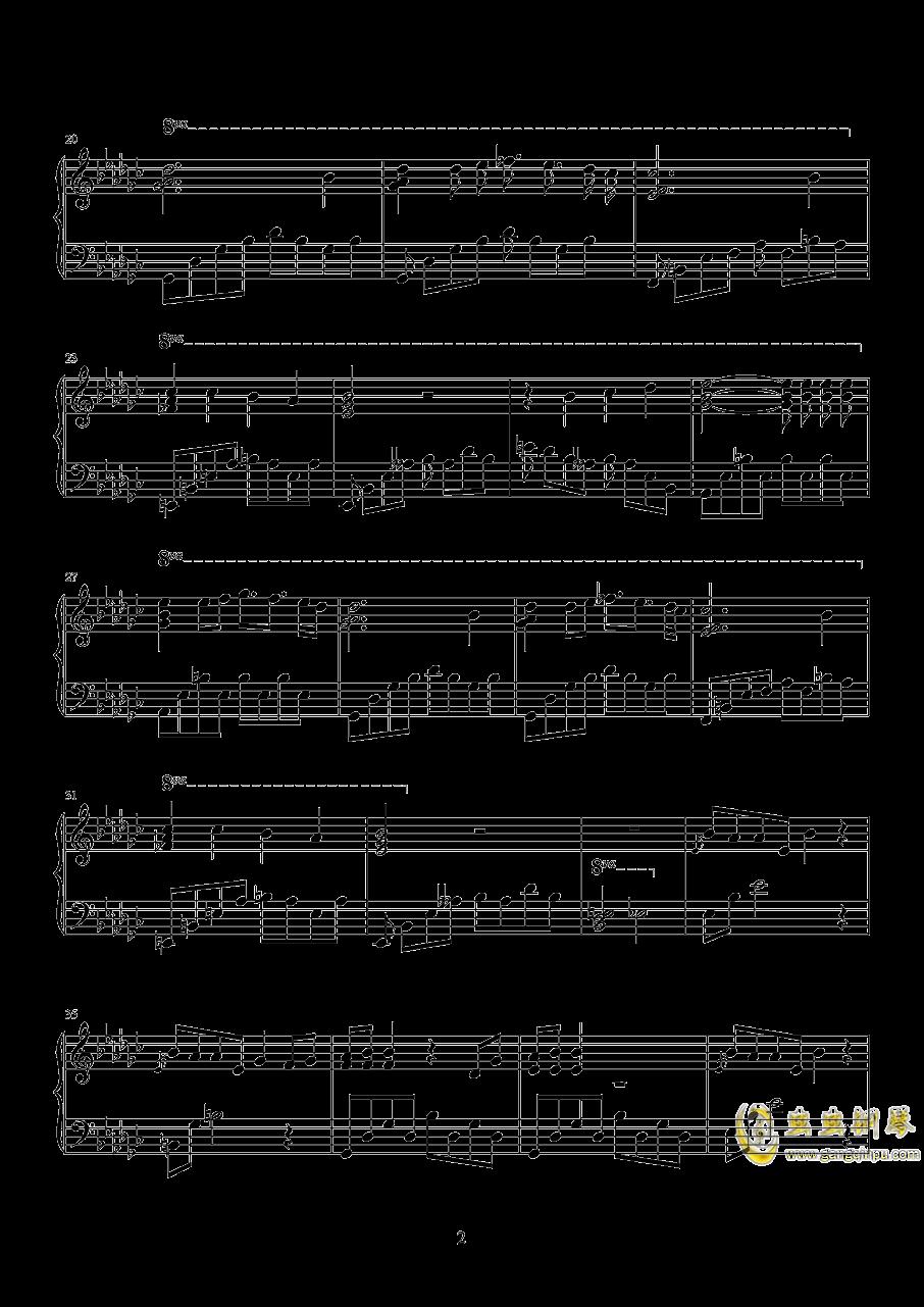 一首钢琴曲钢琴谱 第2页