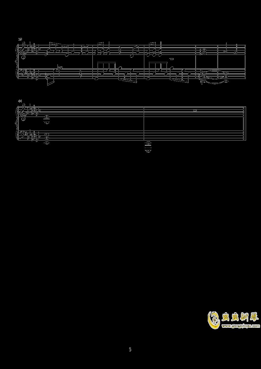 一首钢琴曲钢琴谱 第3页