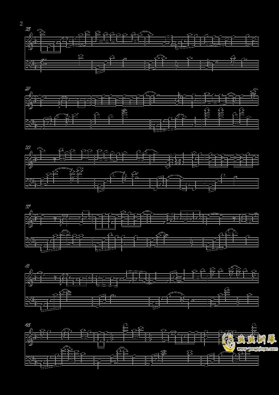 情非得已钢琴谱 第2页
