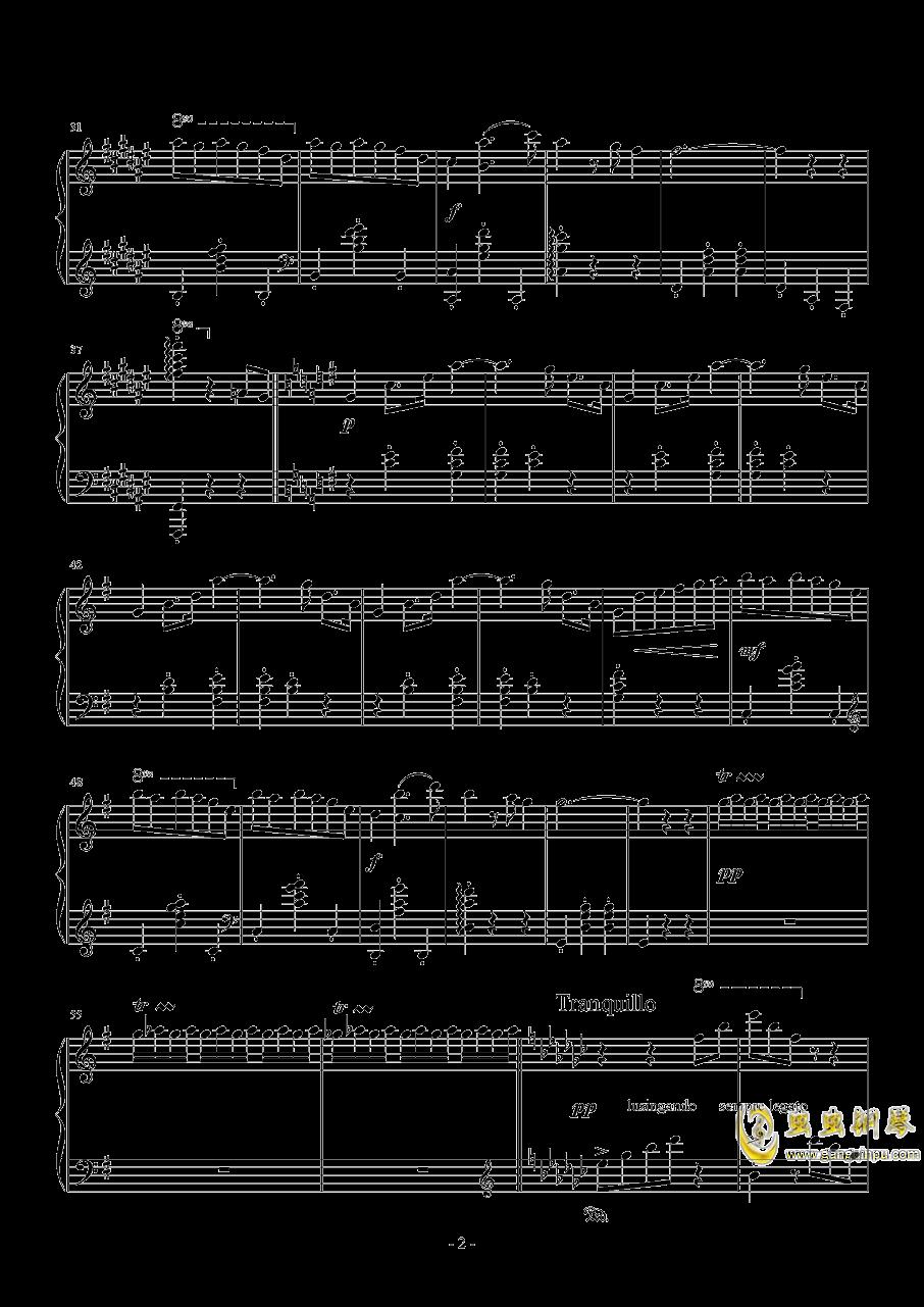 随想圆舞曲钢琴谱 第2页
