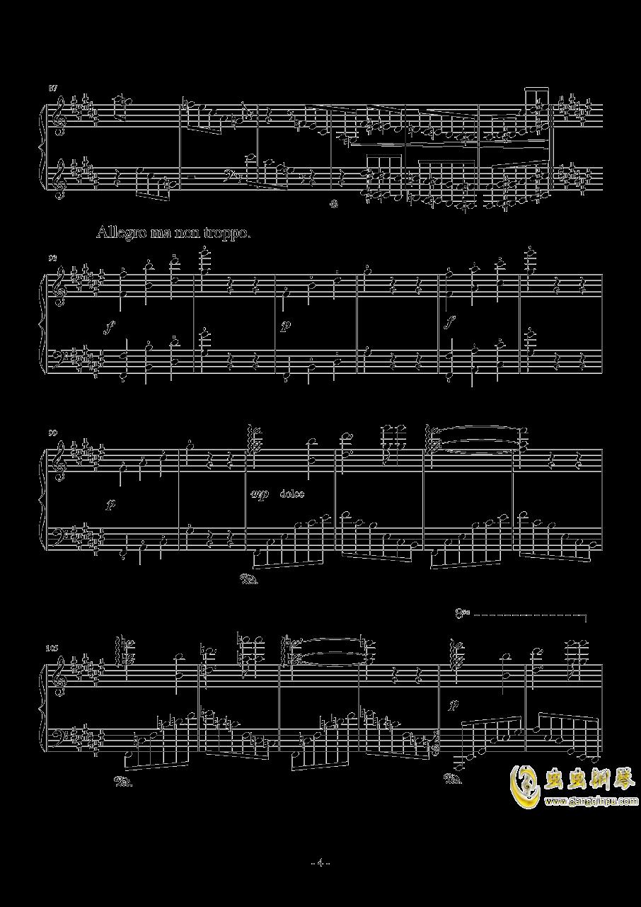 随想圆舞曲钢琴谱 第4页