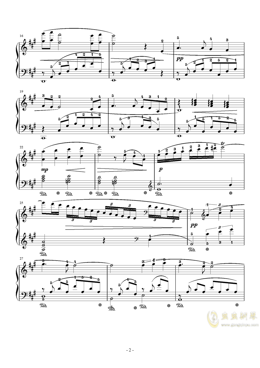 8 Love Grows钢琴谱 第2页
