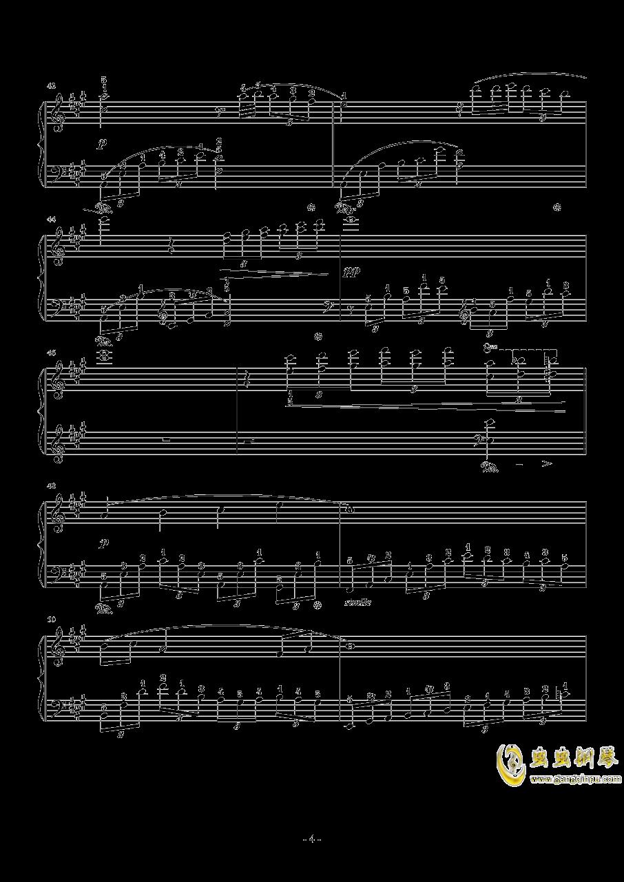 8 Love Grows钢琴谱 第4页