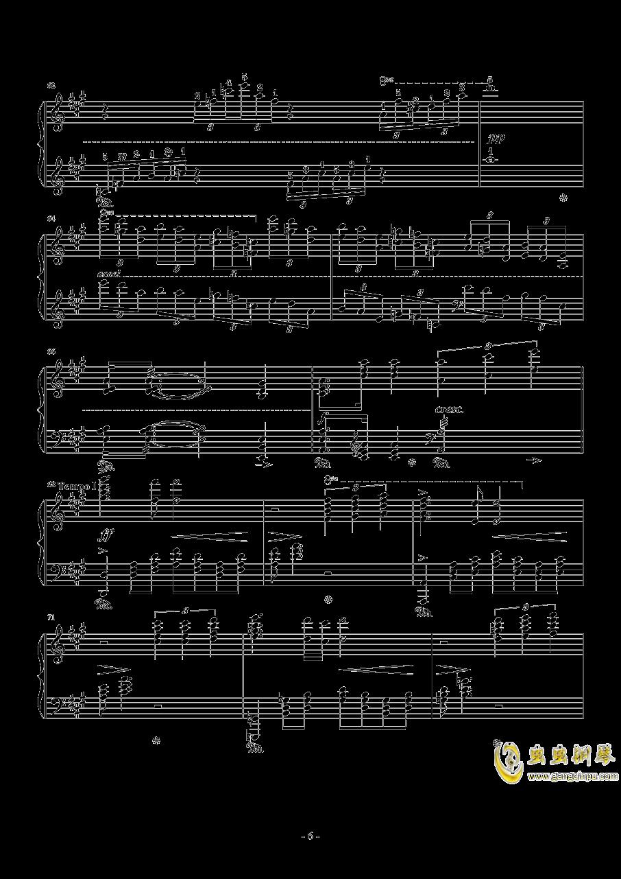 8 Love Grows钢琴谱 第6页