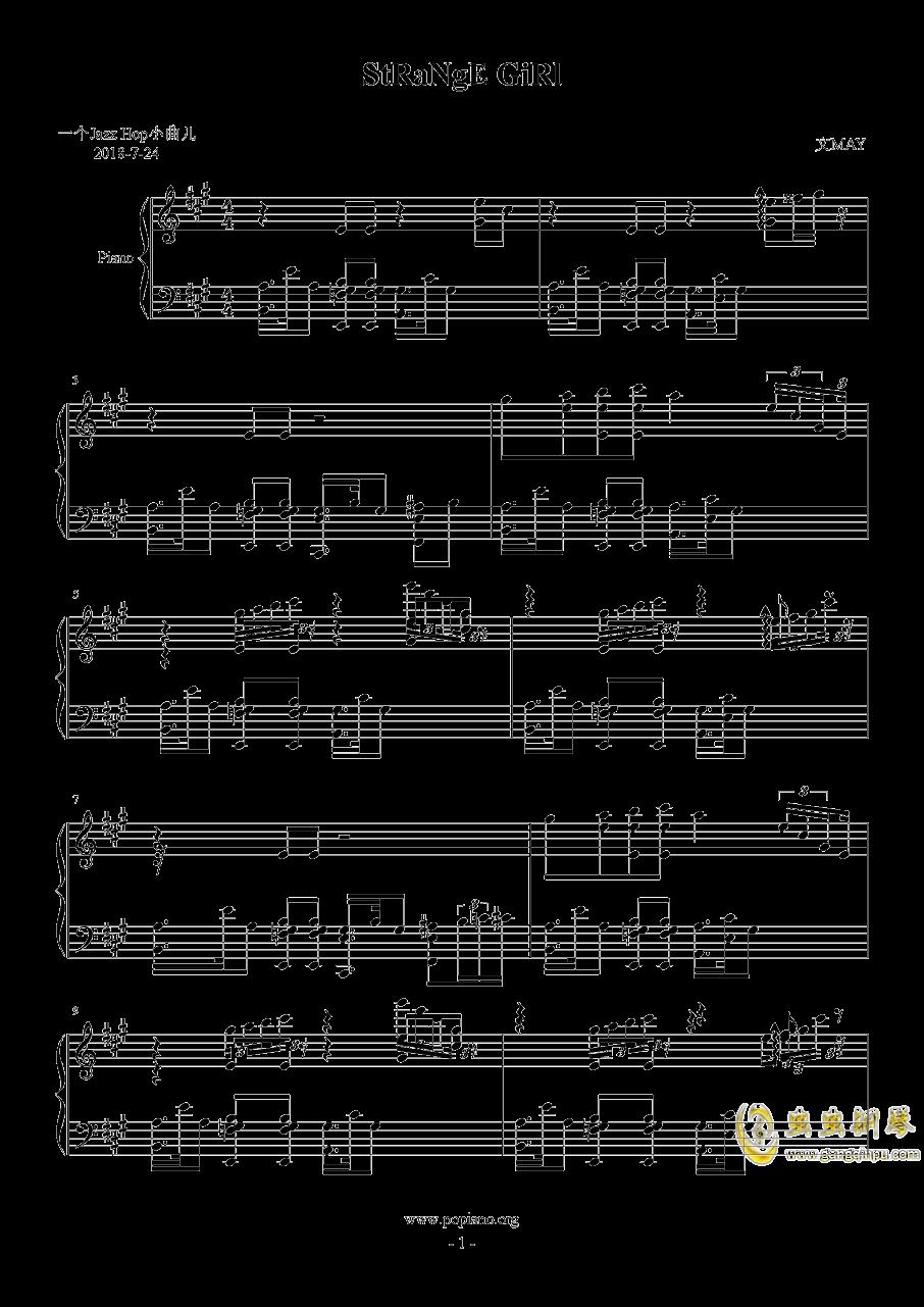 StRaNgE GiRl钢琴谱 第1页