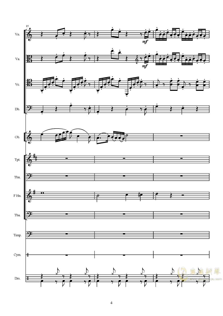 第八套广播体操组曲钢琴谱 第4页