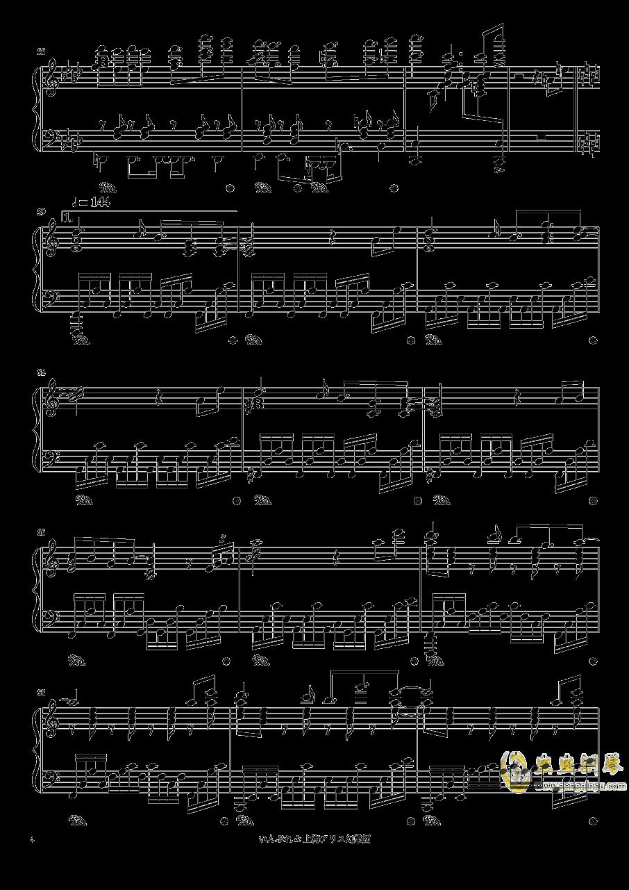 亡き王女の为のセプテット钢琴谱 第4页
