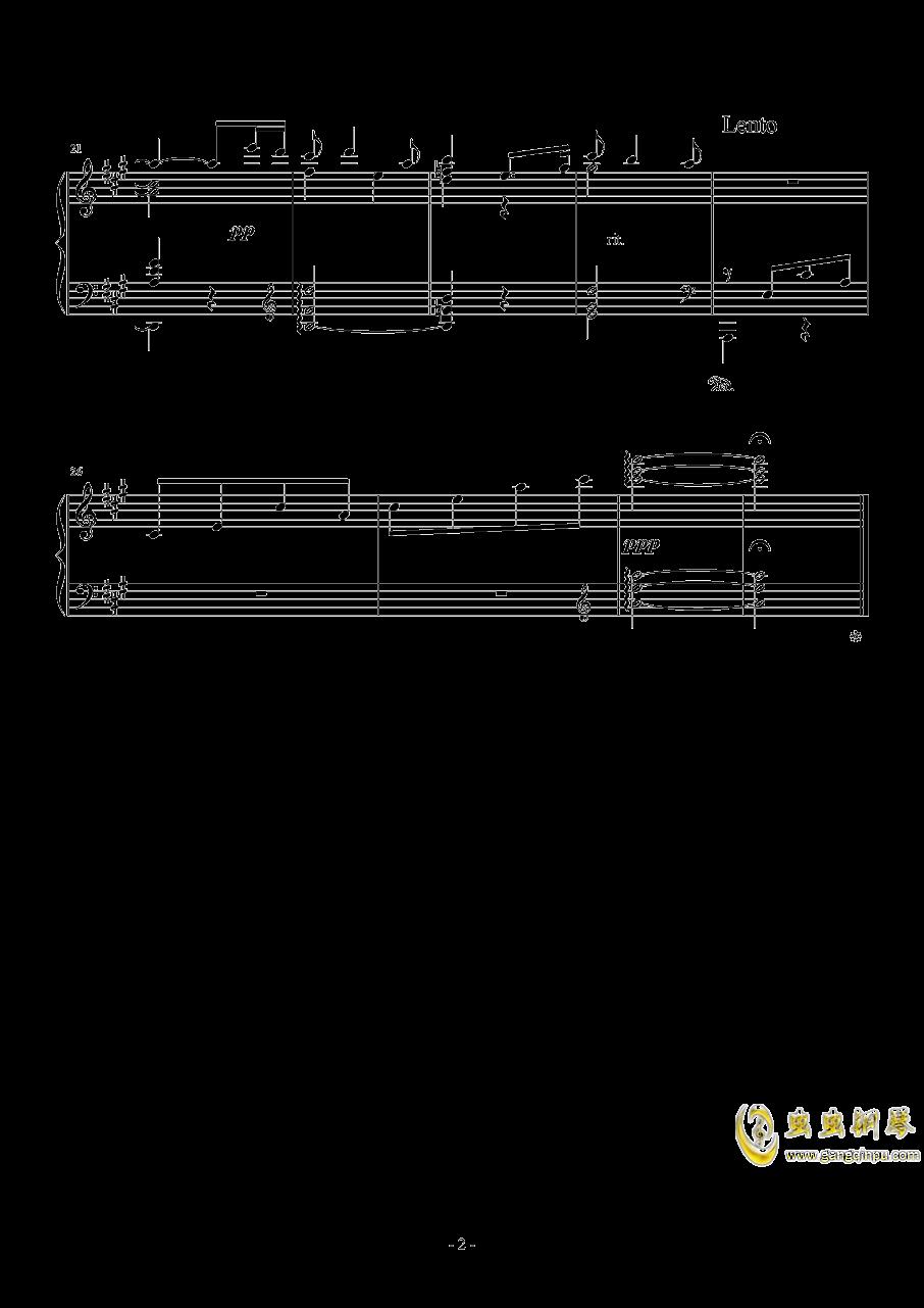 A大调前奏曲钢琴谱 第2页