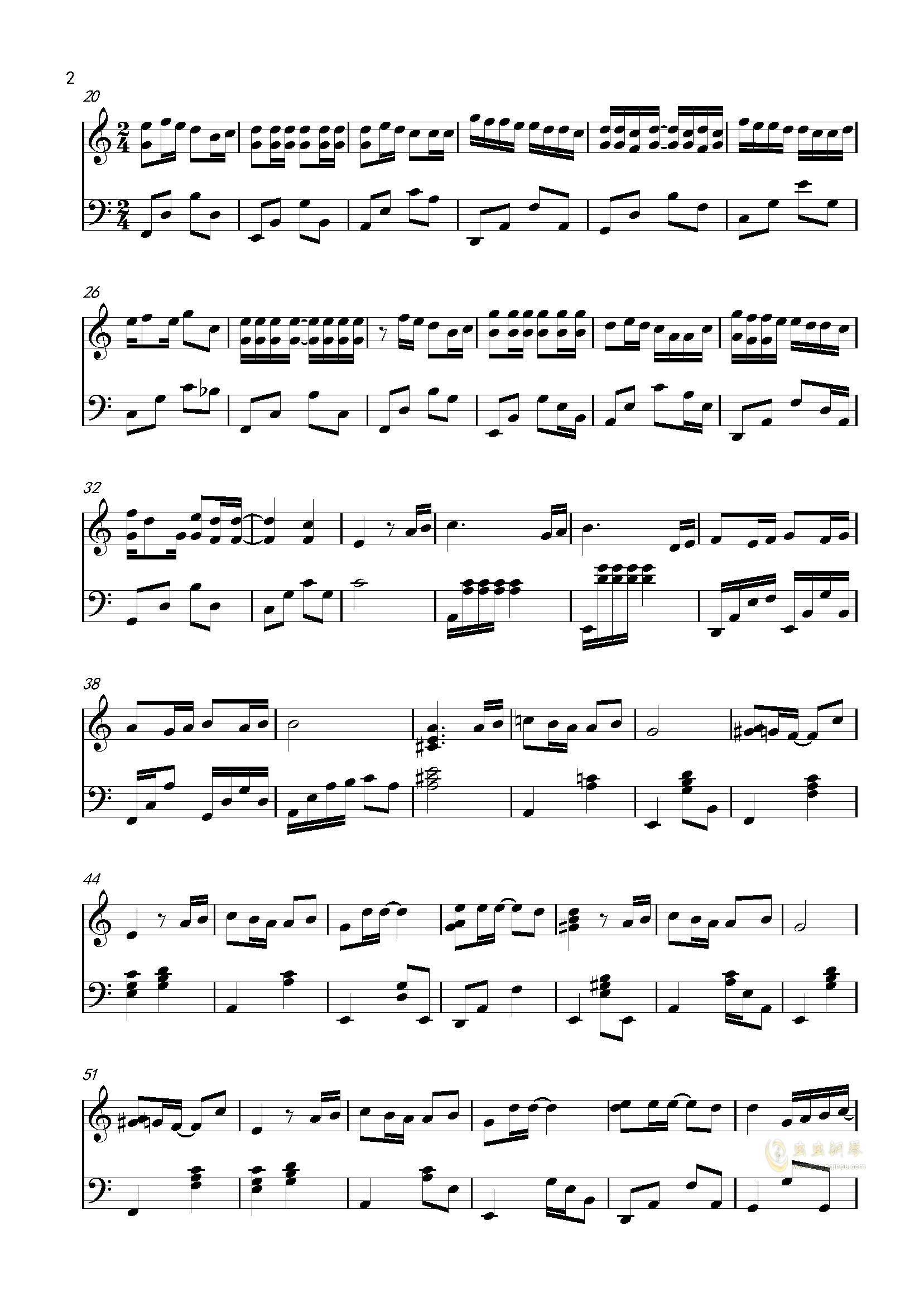 说好的幸福呢钢琴谱 第2页