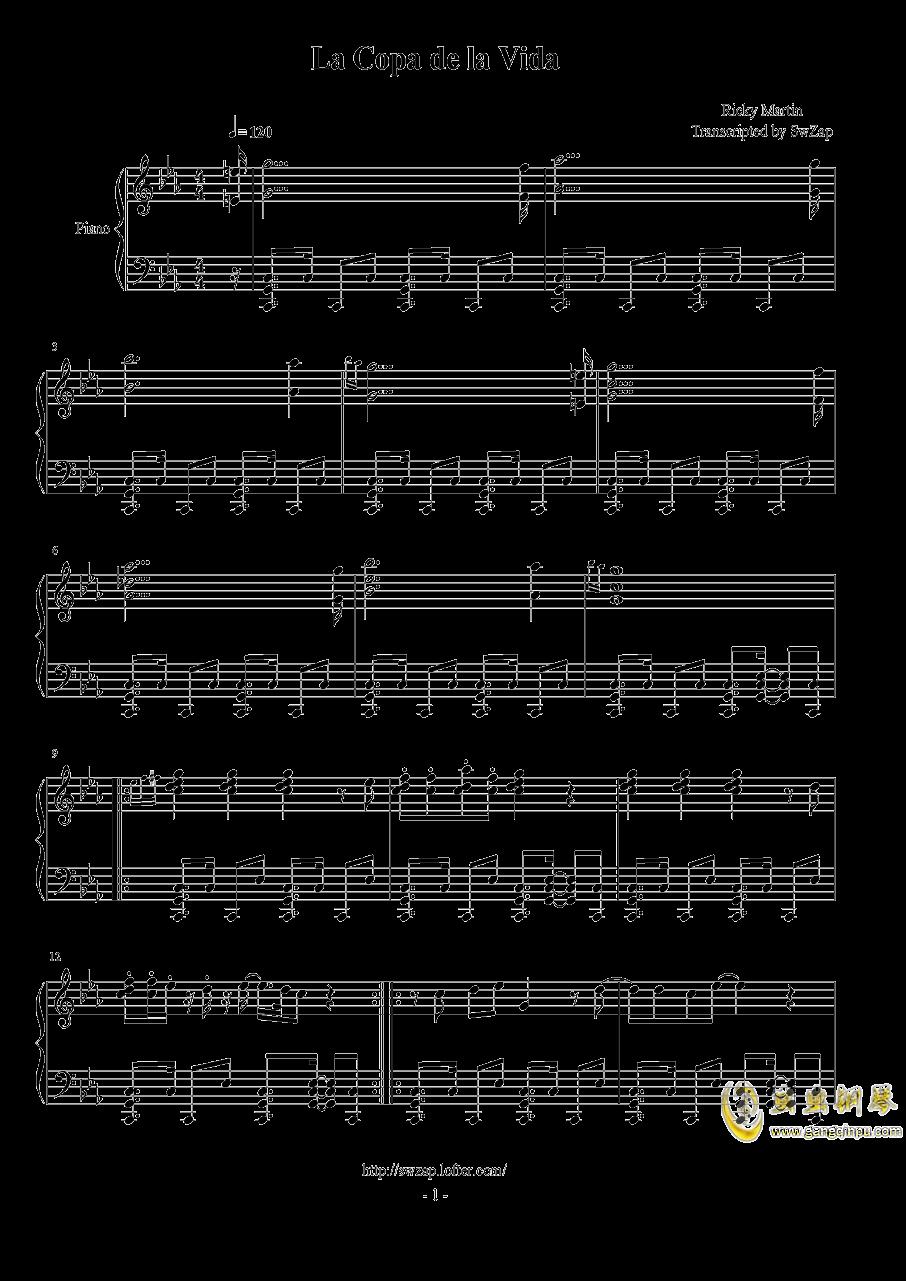 生命之杯钢琴谱 第1页