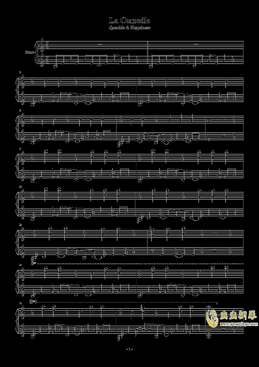La comedie钢琴谱 第1页