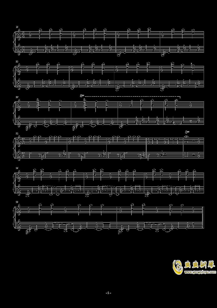 La comedie钢琴谱 第2页