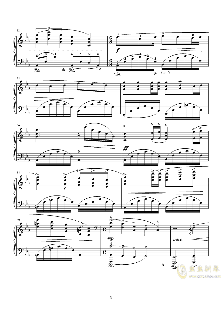 Somnus钢琴谱 第3页
