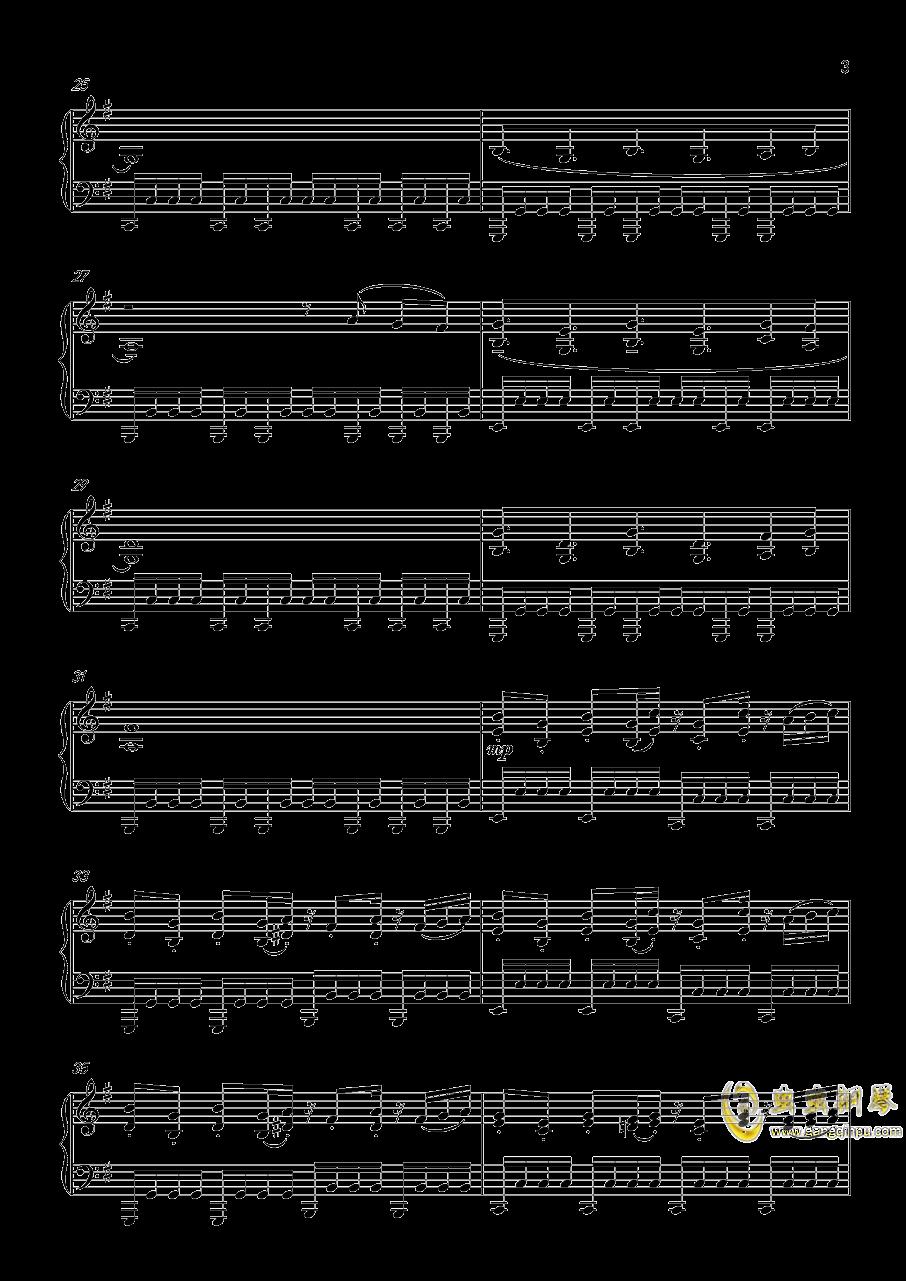 仇恨的华尔兹钢琴谱 第3页