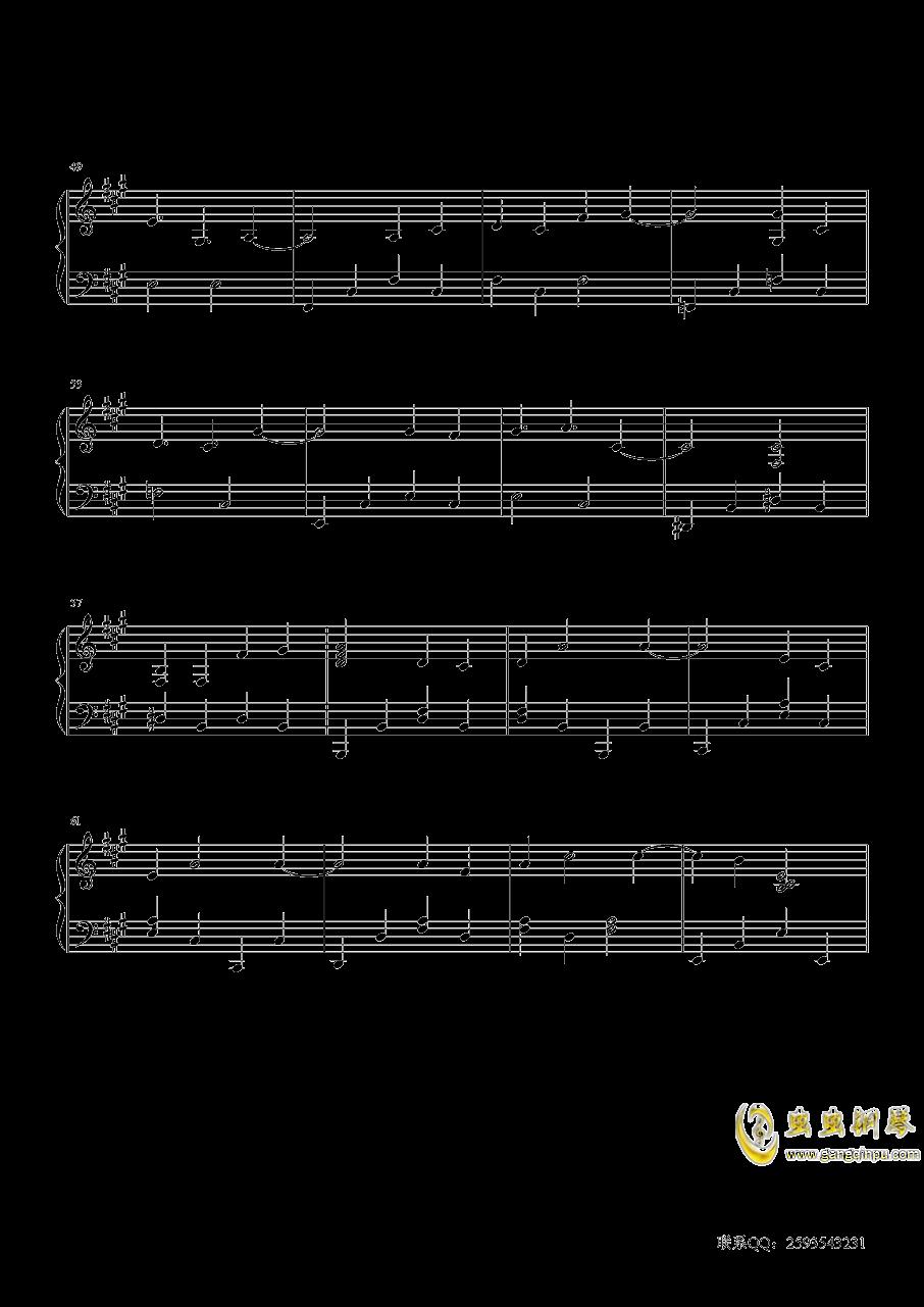 听见下雨的声音钢琴谱 第4页